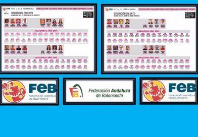 CINCO GRANADINOS ESTARÁN EN LA OPERACIÓN TALENTO-FIBA U12 Y U13.