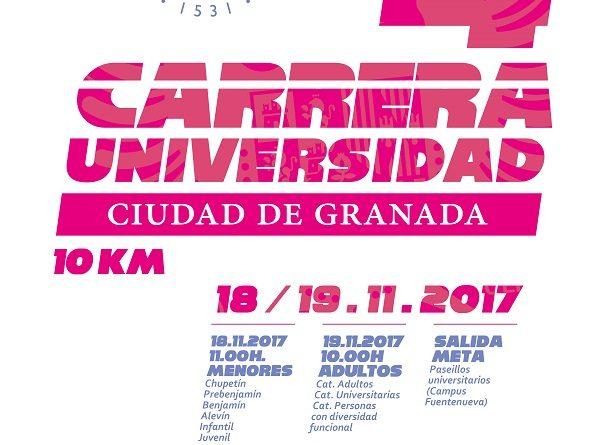 LA IV CARRERA UNIVERSIDAD-CIUDAD DE GRANADA SE CELEBRA ESTE FIN DE SEMANA.