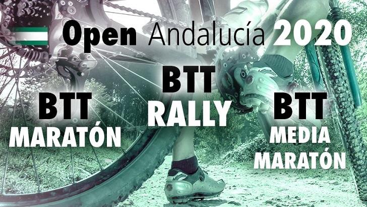 FECHAS DE LOS OPEN DE ANDALUCÍA BTT RALLY, MARATÓN Y MEDIA MARATÓN 2020.