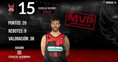 GUILLE RUBIO MVP DE LA JORNADA 18 EN LEB ORO.